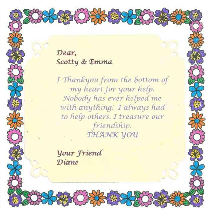 NSW MC thank you card